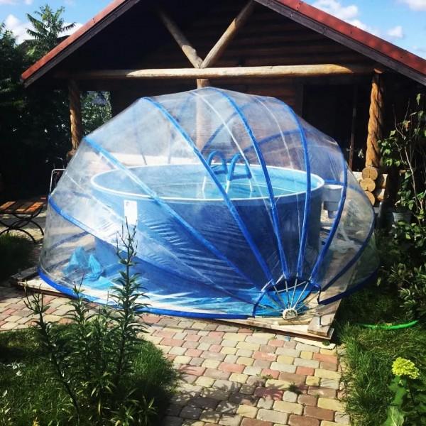 Тент для бассейна круглый Тентнавес 420 (7 дуг) из ПВХ 200 мкм купить с доставкой по РБ